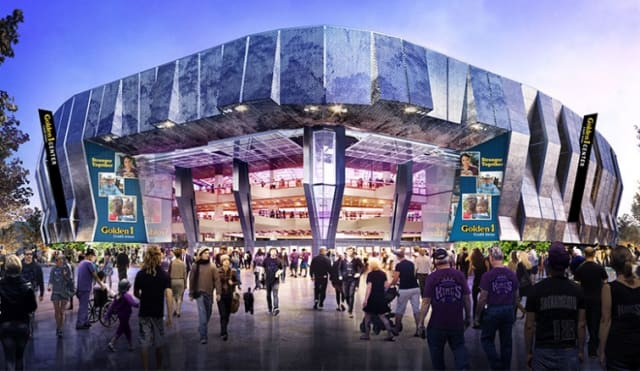 "Simulation of ""Golden 1 Center"". The auditorium will contain 17,500 seats for viewers to enjoy the best of technology"